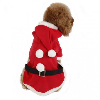 costume veste pour chien p re no l d guisement manteau. Black Bedroom Furniture Sets. Home Design Ideas
