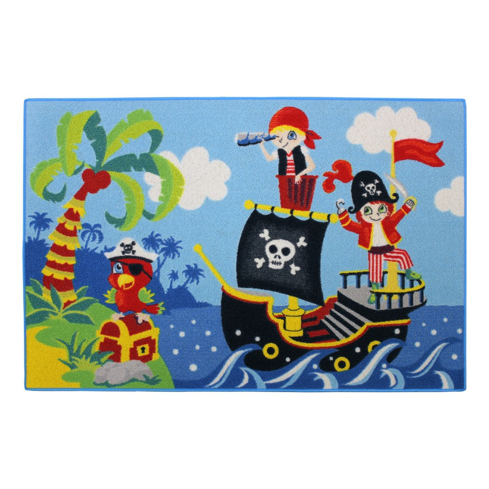 tapis pirate chambre enfant 120 x 80 cm tapis loulomax. Black Bedroom Furniture Sets. Home Design Ideas
