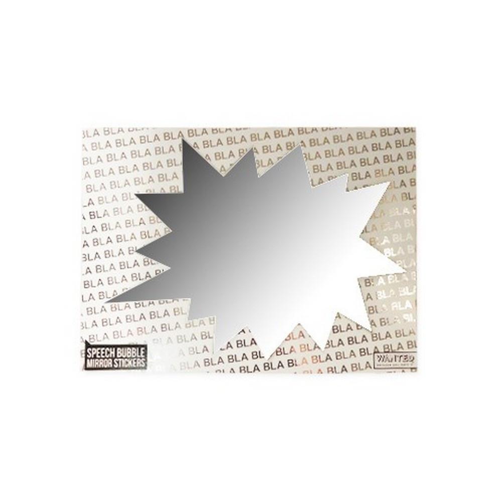 Stickers miroir bulle rectangle bd autocollant id es for Stickers miroir en rouleau