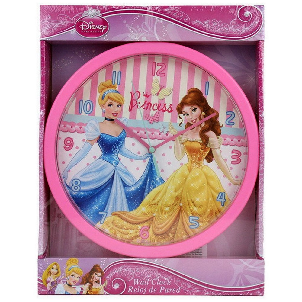 horloge murale princesse montre disney enfant ebay. Black Bedroom Furniture Sets. Home Design Ideas