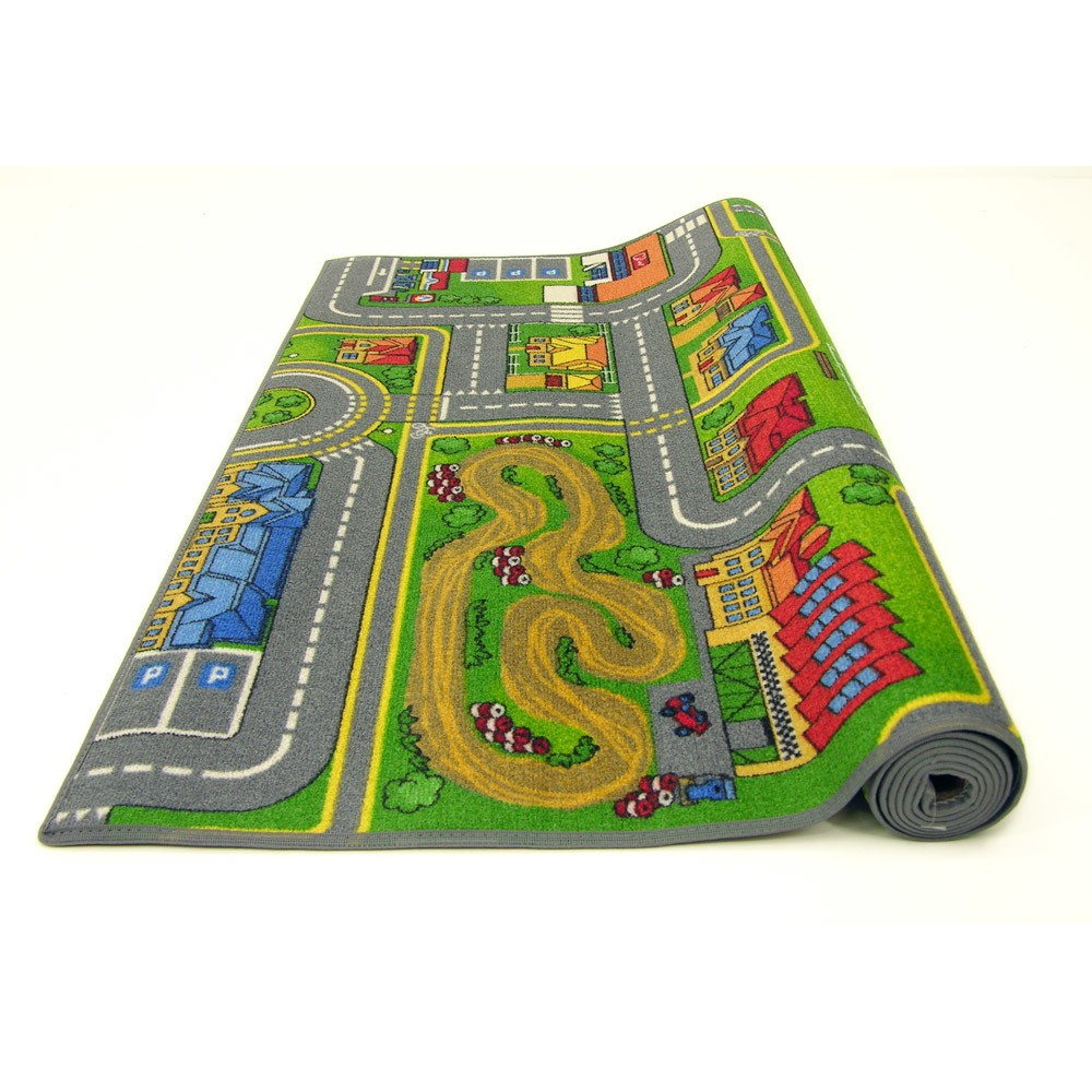 grand tapis de route 140 x 200 cm circuit enfant ebay. Black Bedroom Furniture Sets. Home Design Ideas