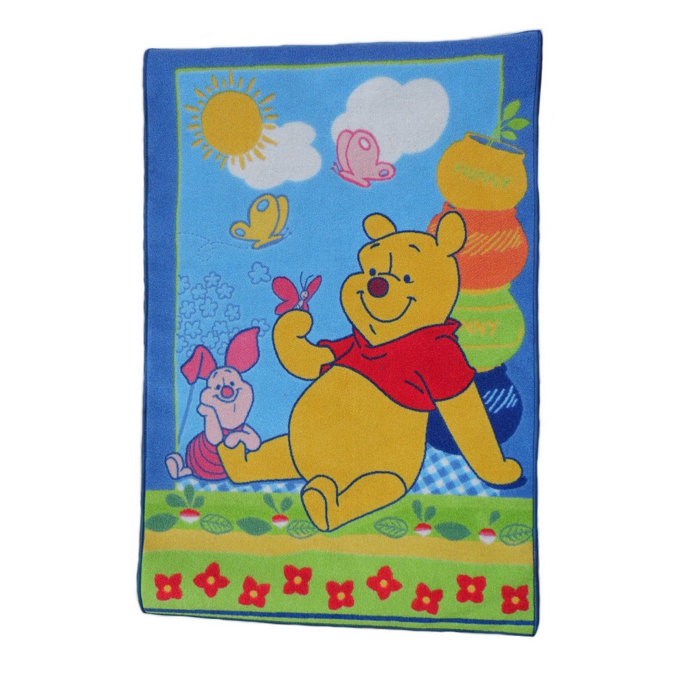 Tapis Winnie L 39 Ourson Porcinet 133 X 95 Cm Ebay