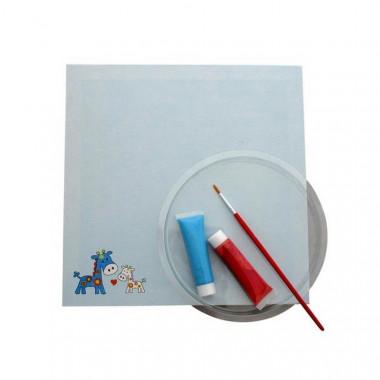 kit empreinte tableau bleu gar on main pied peinture b b enfant d corations enfant loulomax. Black Bedroom Furniture Sets. Home Design Ideas