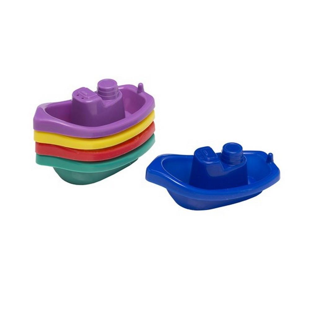 Lot de 5 bateau jouet pour le bain enfant b b salle de for Rack pour le bain