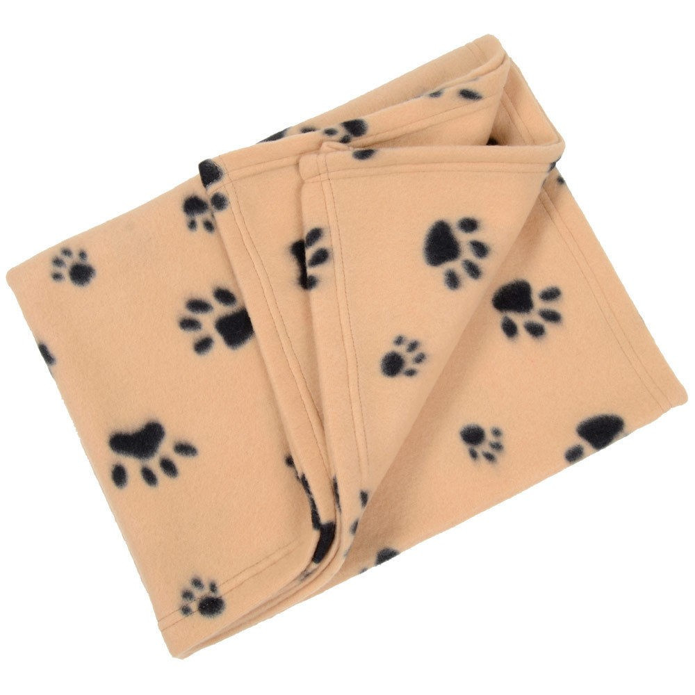 couverture polaire plaid pour chien chat 120 x 80 cm panier corbeille voiture canap beige. Black Bedroom Furniture Sets. Home Design Ideas