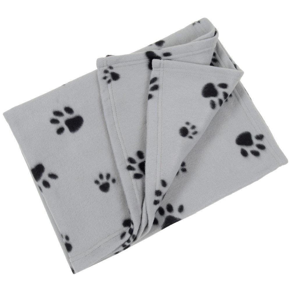 couverture polaire plaid pour chien chat 70 x 70 cm panier corbeille voiture canap gris. Black Bedroom Furniture Sets. Home Design Ideas