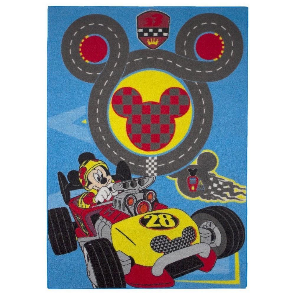 Tapis Enfant Mickey Mouse 133 X 95 Cm Circuit Tapis Enfant Loulomax