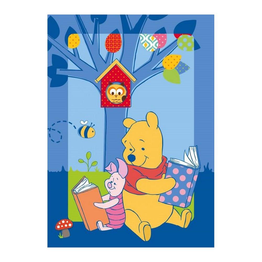 tapis winnie l 39 ourson 133 x 95 cm tapis enfant loulomax. Black Bedroom Furniture Sets. Home Design Ideas