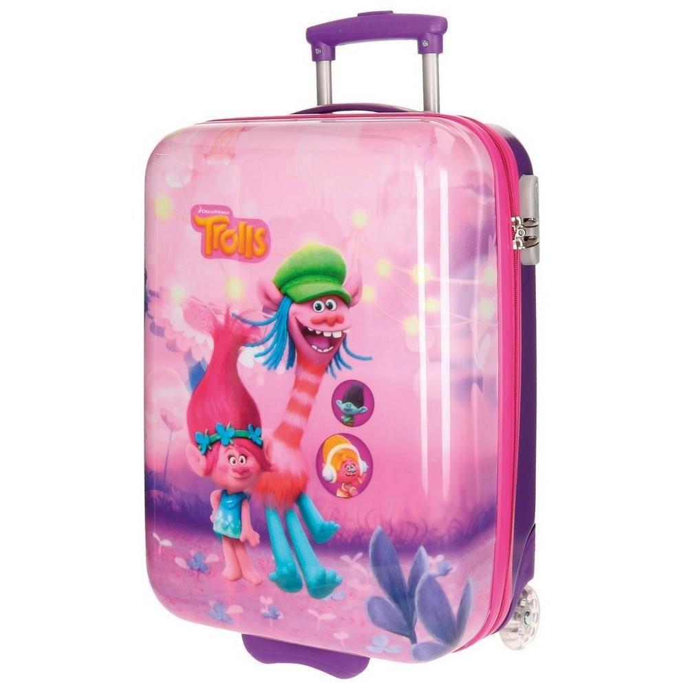 valise trolley les trolls 55 cm bagage cabine enfant disney valises et trolleys loulomax. Black Bedroom Furniture Sets. Home Design Ideas