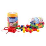 100 perles XL a enfiler enfant jouet lacer grande grosse