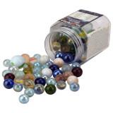 Boite de 101 billes petite et grandes multicolore jeu jouet