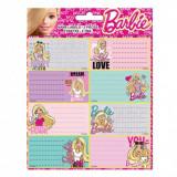 Lot de 16 étiquette Barbie Disney cahier livre classeur enfant