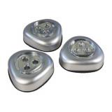 Lampe à led autoadhésives ( lot de 3 ) veilleuse