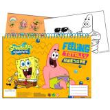 Cahier de dessin Bob l'Eponge livre de coloriage A4 + Stickers autocollant