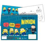 Cahier de dessin Les Minions livre de coloriage A4 + Stickers autocollant