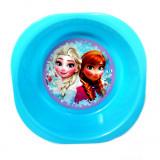 Assiette plastique creuse La Reine des Neiges bleu