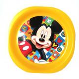 Assiette plate Mickey repas enfant plastique jaune