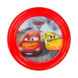 Assiette plate 3D Cars enfant plastique
