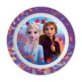 Assiette plate La Reine des Neiges 2 enfant réutilisable Micro onde