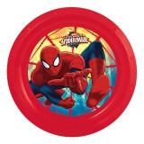Assiette plate Spiderman repas enfant plastique rouge