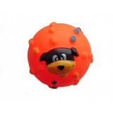 Jouet pour chien, balle avec sifflet orange