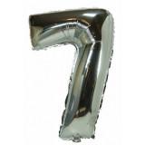 Ballon hélium géant 80 cm chiffre 7 argent