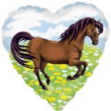 Ballon coeur cheval Disney hélium