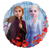 Ballon helium Rond La Reine des Neiges 2 Ana Elsa