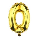 Ballon hélium géant 80 cm chiffre 0 or