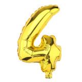 Ballon hélium géant 80 cm chiffre 4 or