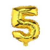 Ballon hélium géant 80 cm chiffre 5 or