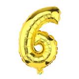 Ballon hélium géant 80 cm chiffre 6 or