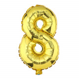 Ballon hélium géant 80 cm chiffre 8 or