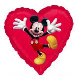Ballon Mickey Mouse hélium coeur