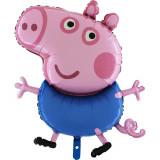 Ballon Georges Peppa Pig XXL hélium New fête frere
