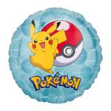 Ballon hélium Pokemon Pikachu Rond Bleu