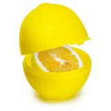 Boite a citron jaune plastique conservation transport