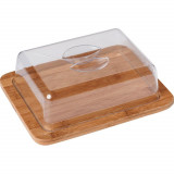 Cloche à fromage en bambou rectangle boite bois