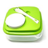Boite repas Salade Couverts Sauce 1L Dejeuner Couvercle