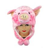 Bonnet peluche cochon enfant, animal tout doux, animaux, écharpe