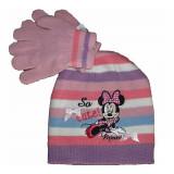 Bonnet Gants Minnie Mouse Rose Taille 52 Disney enfant