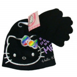 Bonnet Gants Hello Kitty Noir Rouge Taille 52 Disney enfant