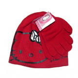 Bonnet Gants Hello Kitty Rouge Taille 52 Disney enfant