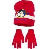 Bonnet Gants Mickey Mouse Rouge Taille 52 Disney enfant