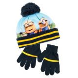 Bonnet Gants Les Minions Bleu Taille 52 Disney enfant