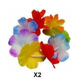 2 bracelet à fleur multicolore hawaïen Hawaï