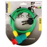 Cadenas de vélo pour enfant antivol avec 2 clé trotinette spirale