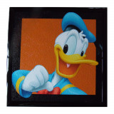 Tableau Donald Disney Mickey cadre 23 x 23 cm