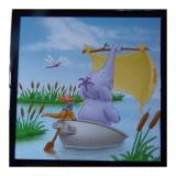 Tableau Petit Gourou et Lumpy Disney Winnie l'ourson cadre 23 x 23 cm