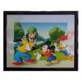 Tableau Mickey 20 x 25 cm Disney cadre enfant Dingo et Donald